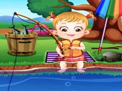 Hazel Bebek Balık Tutuyor