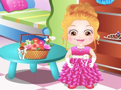 Hazel Bebek Çiçek Taşıyan Kız