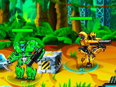 2 Kişilik Robot Savaşı Oyunu Tek Ve Iki Kişi Robot Dövüşü Oyna