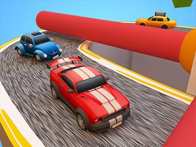 3D Küçük Araba Yarışları