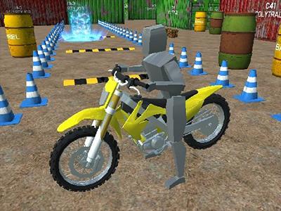 3D Motosiklet Parketme