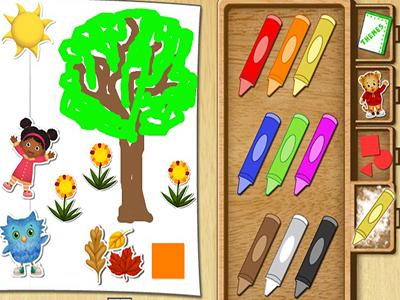Boyama Kalemleri Oyunu Resim Yapma Ve çizme