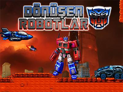 Dönüşen Robotlar Oyunu 2 Kişilik Savaş Arabaya Değişen