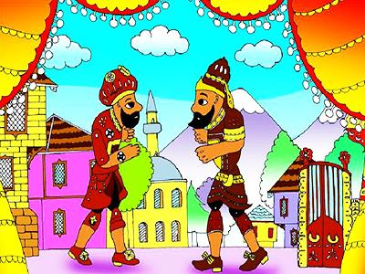Hacivat ile Karagöz Yapboz