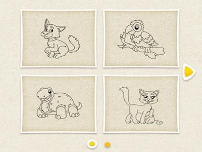 Hayvan Boyama Kitabı Oyunu Hayvanların Resimlerini Boya