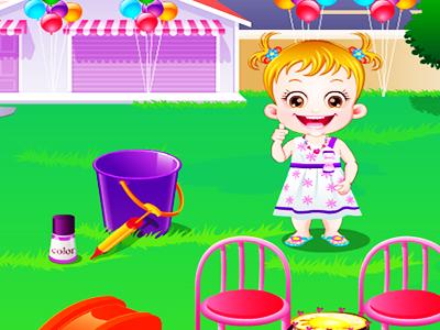 Hazel Bebek Bahcede Oyunu Bebek Oyunlari