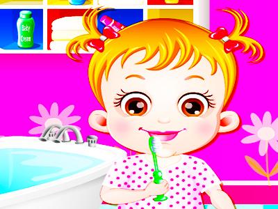 Hazel Bebek Diş Fırçalama