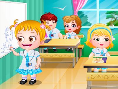 Hazel Bebek Okula Hazirlaniyor Oyunu Bebek Oyunlari