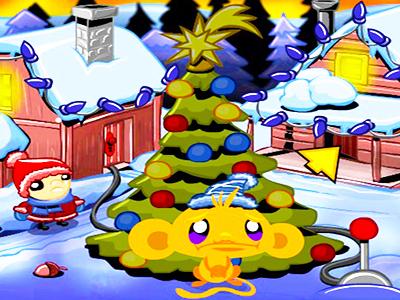Maymunu Mutlu Et Yeni Yıl Ağacı