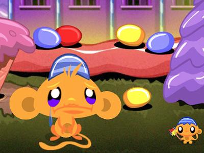 Maymunu Mutlu Et Yumurta Toplama