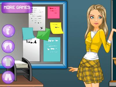 Öğrenci Kızı Giydirme