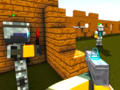 Online Minecraft Savaşı Oyunu 3d Piksel Adam Takımlı Savaş