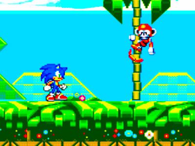 Sonic Oyunu Mavi Sonic Super Lego Kirpi